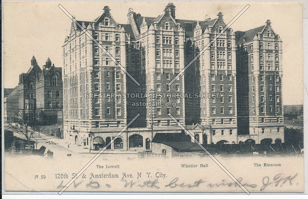The Lowell, Whittier Hall, & The Emerson, 120 St & Amsterdam Av, NYC