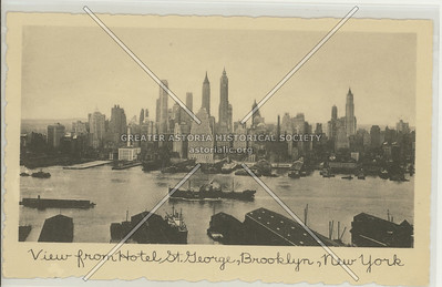 View of Wall Street from St George Hotel, Brooklyn