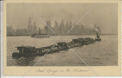 Coal Barges on the Hudson, NYC