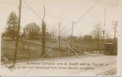 Richmond Turnpike (Victory Blvd) at Jewett Avenue, West New Brighton