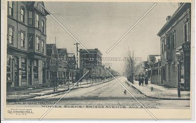 Winter Scene, Briggs Ave & School, L.I.