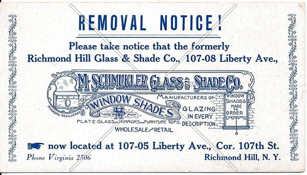 Richmond Hill Glass & Shade Co., 107-05 Liberty Ave., Cor 107th St, Richmond Hill, L.I.