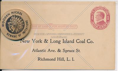 New York & Long Island Coal Co., Atlantic Ave & Spruce St, Richmond Hill, L.I.