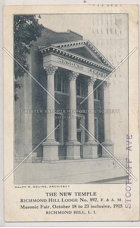 The New Temple, Richmond Hill Lodge No. 892, L.I.