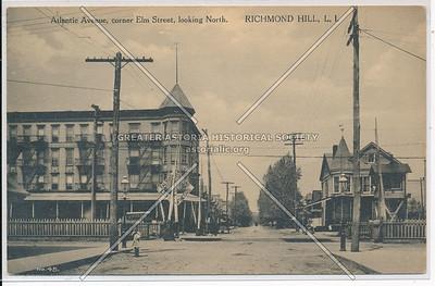 Atlantic Ave, cor Elm St, looking North. Richmond Hill, L.I.