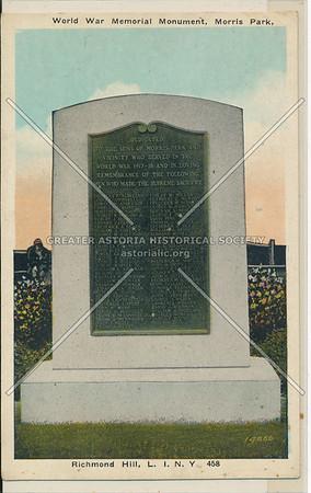 World War Memorial Monument, Morris Park, L.I.