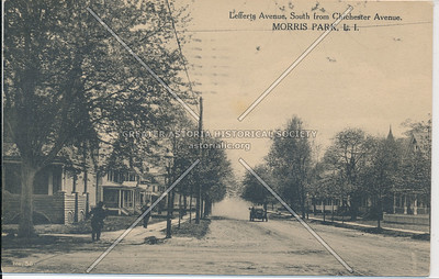 Lefferts Ave, South from Chichester Ave, Morris Park,, L.I.