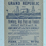 Bill for Grand Republic steamboat outing, 1888